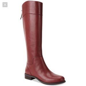 NWOT Nine West Counter Cognac Leather Riding Boots